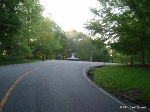 Heading out through Cherokee Park