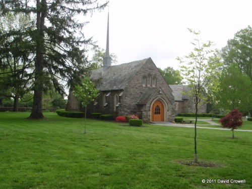 Chapel with well manicured lawn