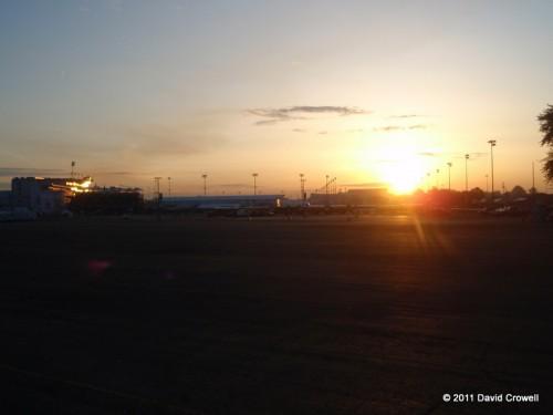 Sunrise over Churchill Downs