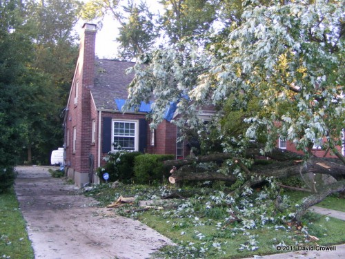 Damaged house on Dayton Ave